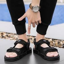 <b>Hot</b>! <b>Korean version of</b> men casual sandals summer Fashion ...