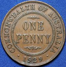 1929 Indian Obverse Australian Penny Tdk Apdc Resource