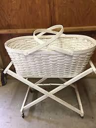 Vintage Wicker Baby Bassinet | eBay