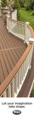 Create shape and visual interest for your deck with curved railing and  contrasting cocktail rail and
