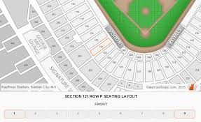 Kansas City Royals Kauffman Stadium Seating Chart