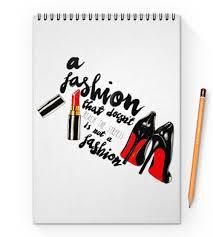 "Блокнот на пружине А4 ""<b>Мода</b> и туфли"" #2212395 от Liby - <b>Printio</b>"