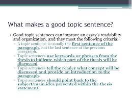 good thesis criteria