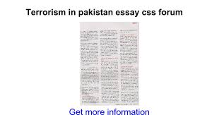 terrorism in essay css forum google docs