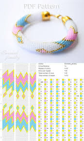 Bead crochet pattern <b>seed bead</b> bracelet tutorial pdf beading master ...