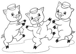 Kleurplaat De Drie Biggetjes Kindersprookje 382