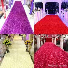 rose petal aisle runner diy