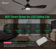 the ifan02 comes with a 2 4g rf remote with whom you can turn on off the fan and light adjust fan sd and light intensity indoors