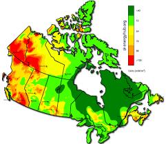 Solar Energy Maps Canada Every Province