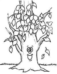 Small Picture Printable Tree Without Leaves Coloring For Kids Tree Coloring