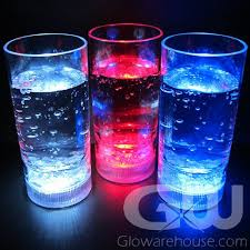 lighted drink glasses with led lights