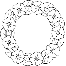 Small Picture Wreath Coloring Page Christmas Wreath With Bow Coloring Page Free