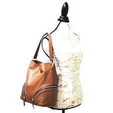 vince camuto jeri hobo dark rum purse pebble leather brown handbag shoulder nwt