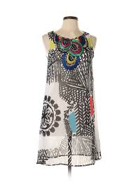 Desigual Dress Size Chart Details About Desigual Women Black Casual Dress 38 Eur