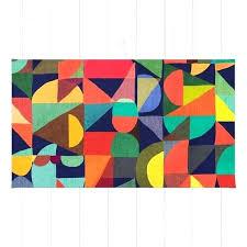 color block area rug blocks texture and threshold multi