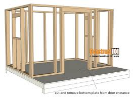playhouse plans raise wall frame