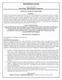 Mechanical Engineer Resume Sample Objective Statements Samples