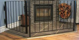 built in fireplace with child guard