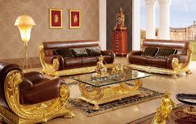 Italian Style Furniture Living Room Living Room Luxury Brown Gold Sofa Furniture Italia Style Living