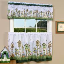 Window Valance For Kitchen Kitchen Curtains Tiers And Valance Window Treatments Touch Of Class