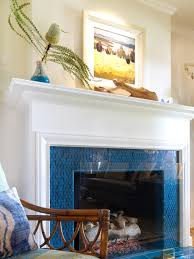 awesome glass mosaic fireplace surround beach style living room glass fireplace screen tile rainbow colection