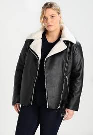 glamorous curve winter biker jacket faux leather jacket black zalando co uk