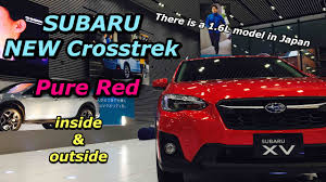 2018 subaru xv red.  2018 2018 subaru allnew suv crosstrek pure red insideu0026outside   xv   16l   to subaru xv red u