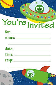 Space Party Invitation Space Alien Birthday Party Invitations Fill In Style 20 Count With Envelopes