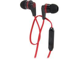 skullcandy black red sikdy mm connector ink d earbud skullcandy black red s2ikdy 010 3 5mm connector ink d 2 0 earbud headphones