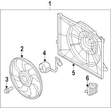 parts com® hyundai sonata radiator components oem parts 2011 hyundai sonata hybrid l4 2 4 liter electric gas radiator components