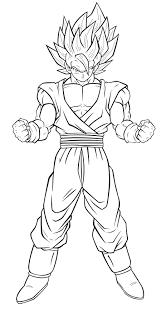 Coloriage De Sangoku Super Sayen 2 L