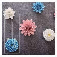 high quality ceramic flower decor home creative wall decoration handmade flowers crafts ornament art blue