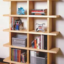 an open bookshelf