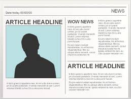 Creating A Newspaper Template Powerpoint Templates For Creating Newspaper Projects Easy