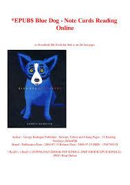 Epub Blue Dog Note Cards Reading Online