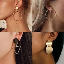 <b>New Fashion Round Dangle</b> Drop Korean Earrings For Women ...