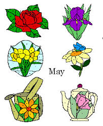 Stained Glass Flower Patterns Delectable May Flowers Stained Glass Pattern Set 4848