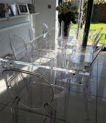 Acrylic Dining Table And Chairs