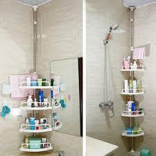 Telescopic Shower Corner Shelves Adjustable Telescopic Bathroom Corner Shower Shelf Rack 100 Tier 29