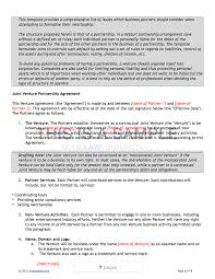 Joint Partnership Agreement Template Joint Venture Contract Template 15