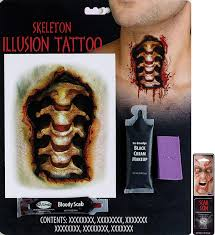 amazon potomac banks illusion tattoo makeup kit bobble head with free pack of makeup toys games