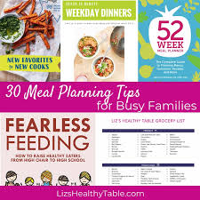30 Meal Planning Tips For Busy Families