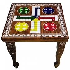 Wooden Ludo Board Game Wooden Ludo Table 48