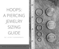 Lip Gauge Size Chart Hoops Piercing Jewelry Sizing Guide Spiritadornments