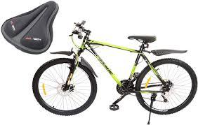 cosmic eldorado 1 0l 21 sd gear bicycle with gel seat cover 66 cm
