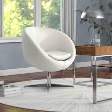 Modern papasan chairs Mid Century Wayfair Wade Logan Evanston Swivel Papasan Chair Reviews Wayfair