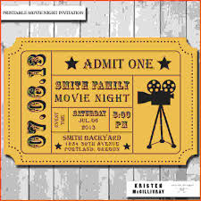 Movie Ticket Template For Word Thefreedl