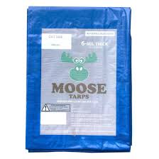 Moose Supply 30 X 40 Tear And Water Resistant Reversible Vinyl Tarp Covers Blue Silver