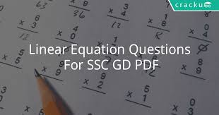 writing linear equations test pdf