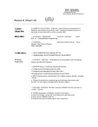Telecom Resume Example  Sample Telecommunications Resumes